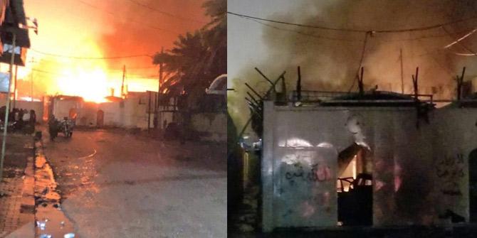 Irak'ta göstericiler İran konsolosluğunu tekrar yaktı