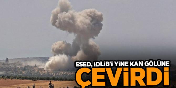 Esed, İdlib'i yine kan gölüne çevirdi: