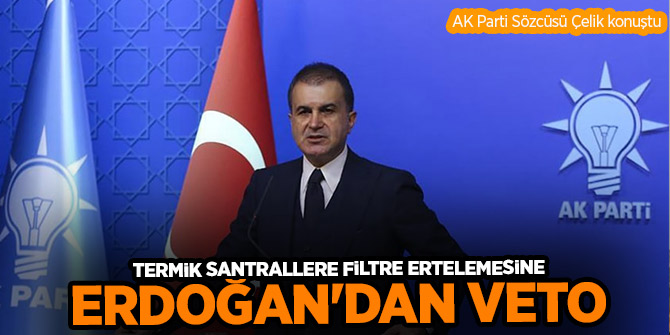 Cumhurbaşkanı Erdoğan'dan termik santrallerle ilgili düzenlemeye veto