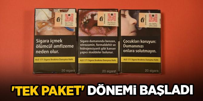 Sigara satışında 'tek paket' dönemi başladı