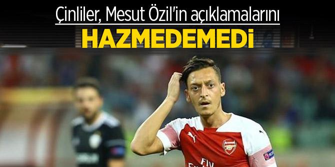 Çinliler, Mesut Özil'in açıklamalarını hazmedemedi!