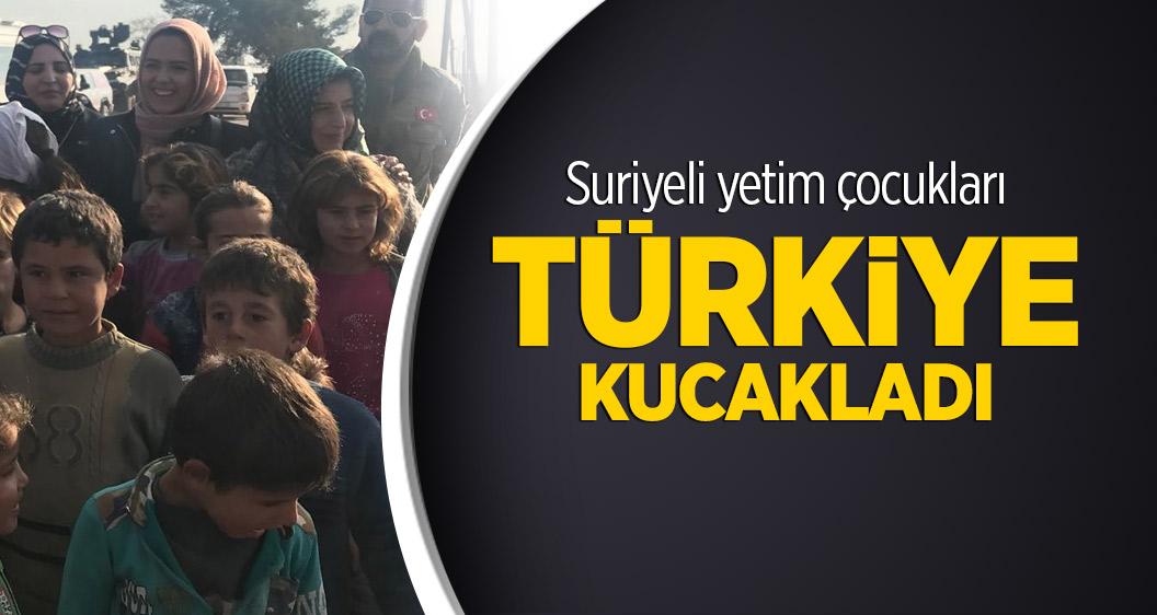 Suriyeli yetim çocukları Türkiye kucakladı
