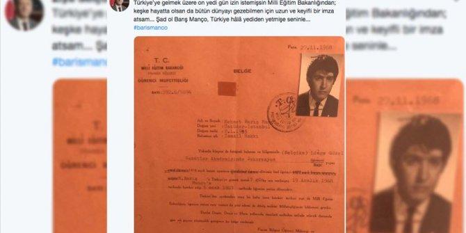 Bakan Selçuk'tan Barış Manço'nun doğum gününe özel paylaşım
