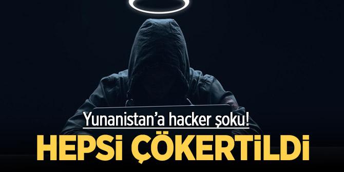 Yunanistan'a hacker şoku! Hepsi çökertildi