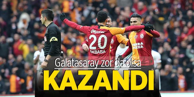 Galatasaray zor da olsa kazandı