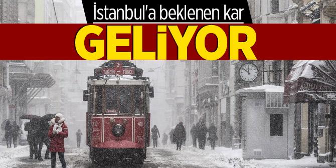 İstanbul'a beklenen kar geliyor