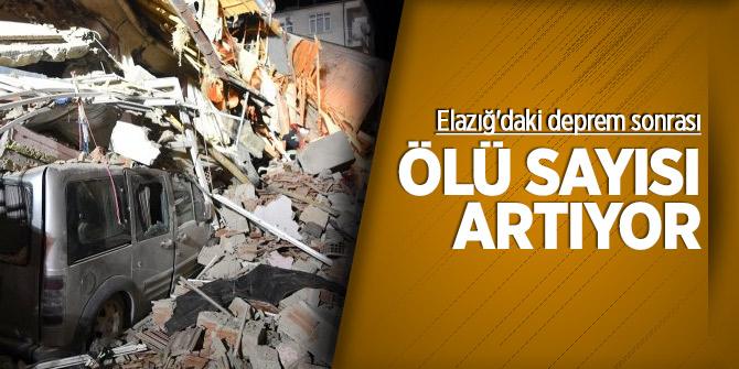 Elazığ'daki deprem sonrası ölü sayısı artıyor