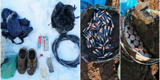 PKK'lı teröristlere ait yaşam malzemeleri ele geçirildi