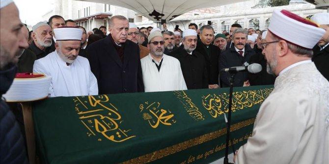 Erdoğan, Ahmet Vanlıoğlu'nun cenaze törenine katıldı