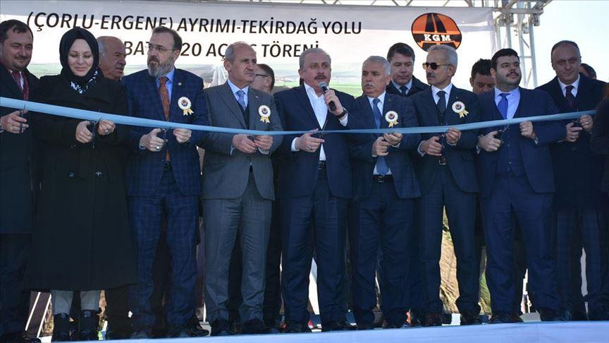 TBMM Başkanı Şentop ve Bakan Turhan yol açılışına katıldı