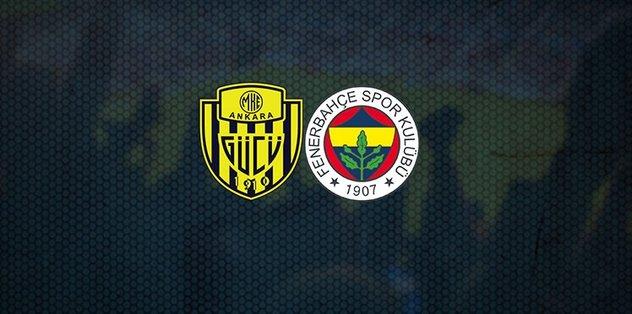 Ankaragücü Fenerbahçe maçı saat kaçta, hangi kanalda?