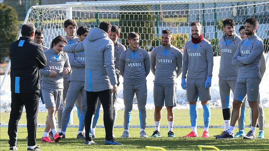Trabzonspor'da Abdülkadir, Yusuf ve Ekuban takımla çalıştı