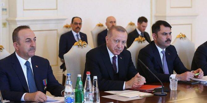 Cumhurbaşkanı Erdoğan: Hedef Türkiye-Azerbaycan ticaret hacmini 15 milyar dolara çıkarmak