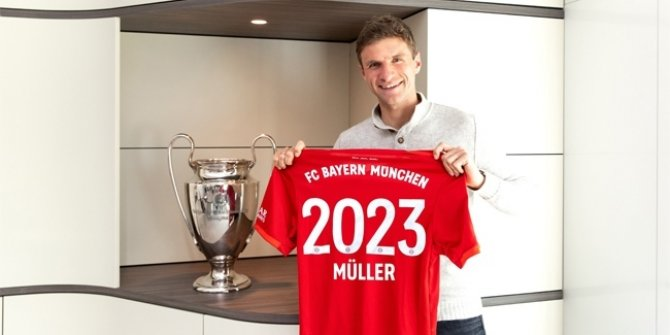Thomas Müller 2023'e kadar Bayern Münih'te