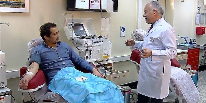 Yeni tip koronavirüsü yenen Doktor Demir ilk plazma bağışçısı oldu