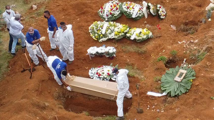 Brezilya'da Kovid-19 nedeniyle son 24 saatte 1086 kişi hayatını kaybetti