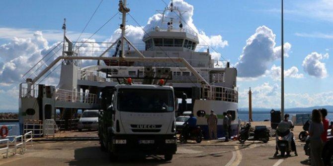 Bozcaada'ya feribot seferleri 3 güne çıkarıldı