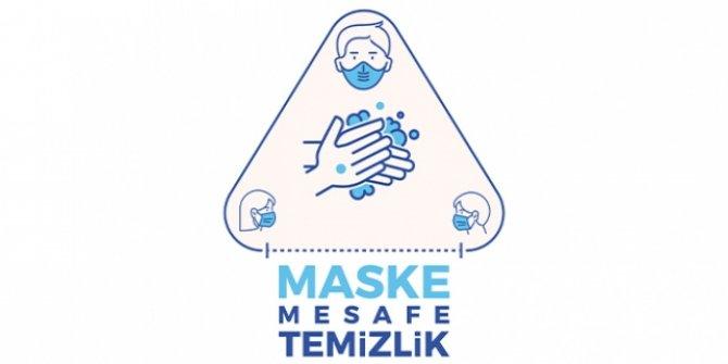 Maske, mesafe ve temizliğin önemi logoyla anlatıldı