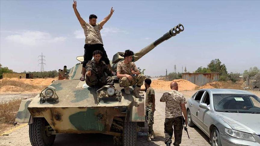 Libya Ordusu Sirte'de BAE'ye ait SİHA düşürdü