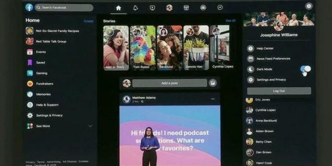 Facebook'a Karanlık Mod Özelliği Geliyor