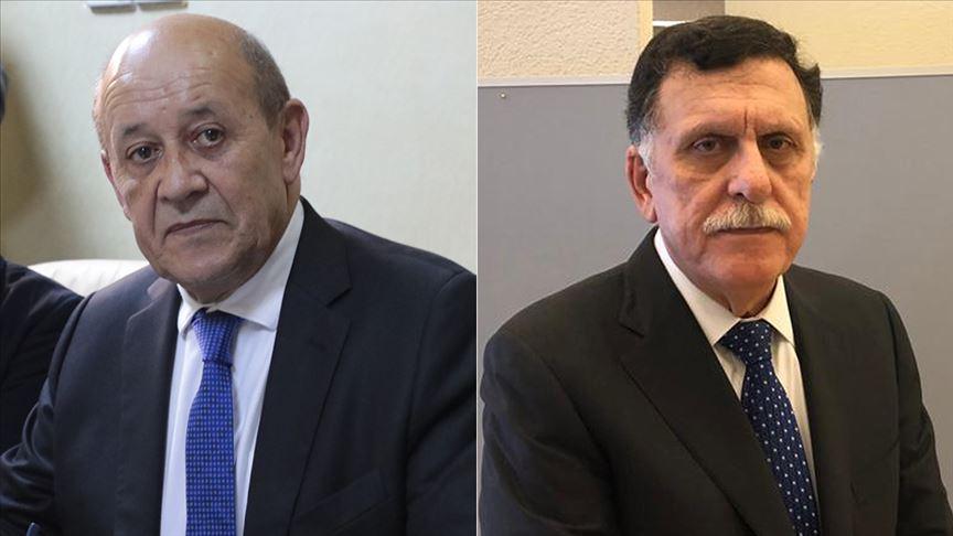 Fransa Dışişleri Bakanı Le Drian ile Libya Başbakanı Serrac telefonda görüştü