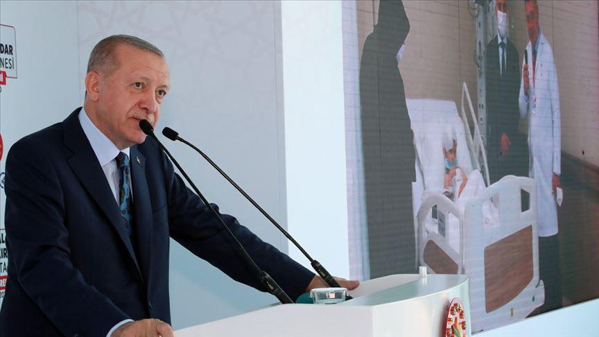 Erdoğan'dan Kartal Dr. Lütfi Kırdar Şehir Hastanesi paylaşımı
