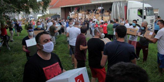 YEE ve Mamak Belediyesi, Sancak bölgesine tıbbi malzeme yardımında bulundu