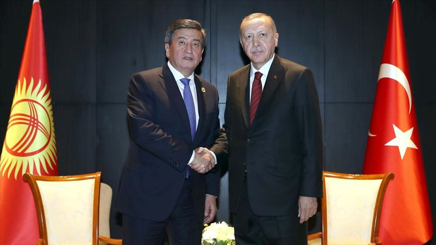 Erdoğan, Kırgızistan Cumhurbaşkanı Ceenbekov ile telefonda görüştü