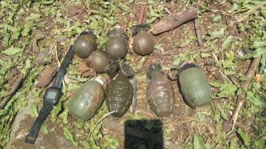 Bakanlık açıkladı: PKK'ya ait çok sayıda silah ve mühimmat ele geçirildi