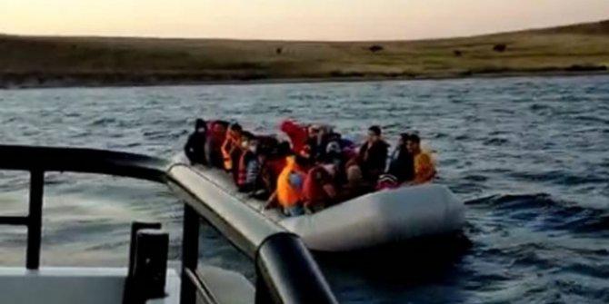 Türk kara sularına geri itilen 24 sığınmacı kurtarıldı