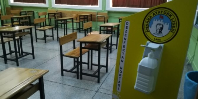 Ankara'daki okullarda Covid-19 hazırlığı