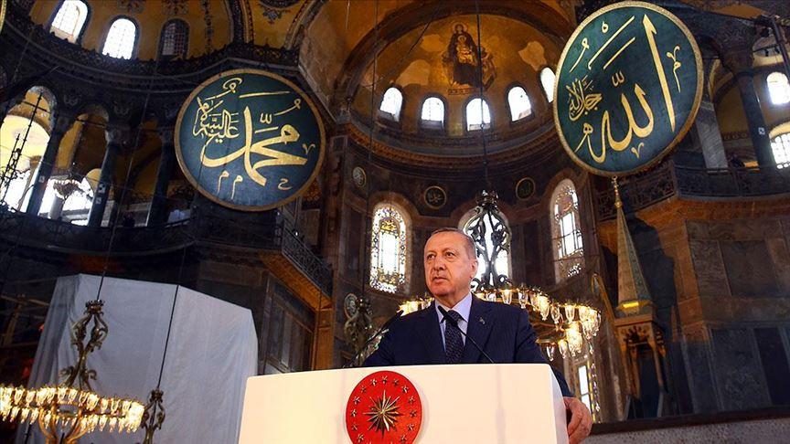 Cumhurbaşkanı Erdoğan tarih verdi: Ayasofya'da ilk namaz 24 Temmuz'da