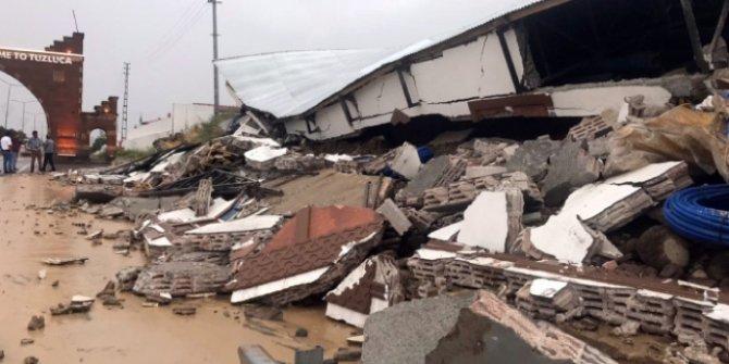 Iğdır'da kuvvetli sağanak hasara neden oldu