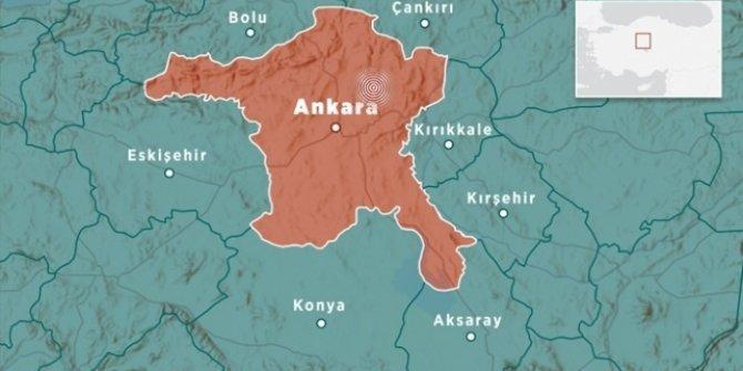 Ankara'da 3,6 büyüklüğünde deprem