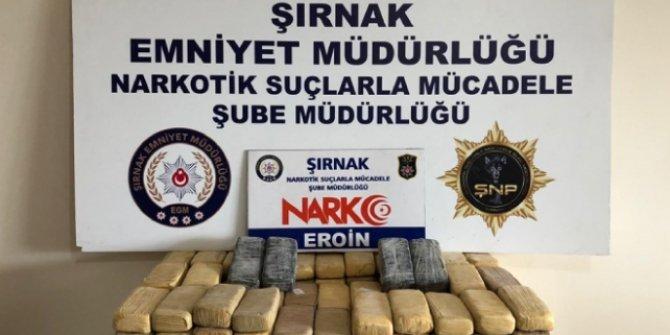 Şırnak'ta 82 kilogram uyuşturucu madde ele geçirildi