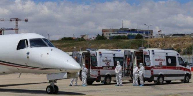 Kırgızistan'dan 4 Türk hasta yurda getirildi