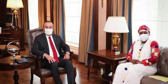 Dışişleri Bakanı Çavuşoğlu, Nijer Cumhuriyeti'nin Büyükelçisi Gazibo ile Görüştü