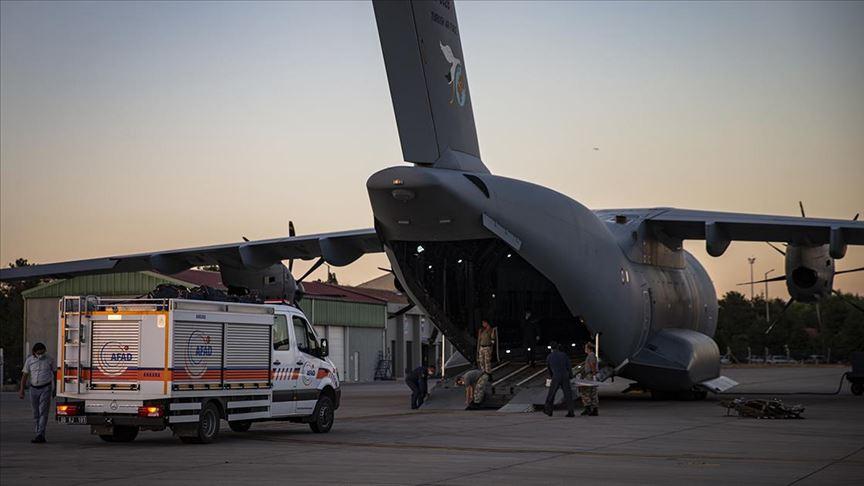 Beyrut'a yardım ulaştıracak uçak, Ankara Etimesgut Havaalanı'ndan hareket etti
