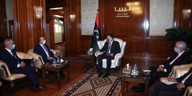 Çavuşoğlu Trablus'ta Libya Başbakanı Serrac'la görüştü