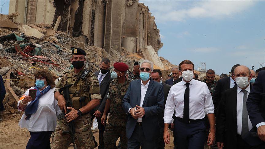 Macron'dan 'Beyrut'taki patlama için şeffaf soruşturma' ve 'yolsuzlukla mücadele' çağrısı