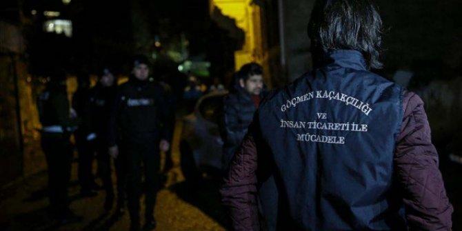 İstanbul'da düzensiz göçmen operasyonu