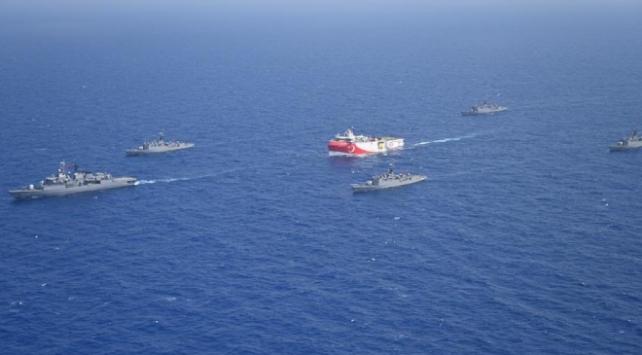 Doğu Akdeniz'de Oruç Reis'e yakın koruma