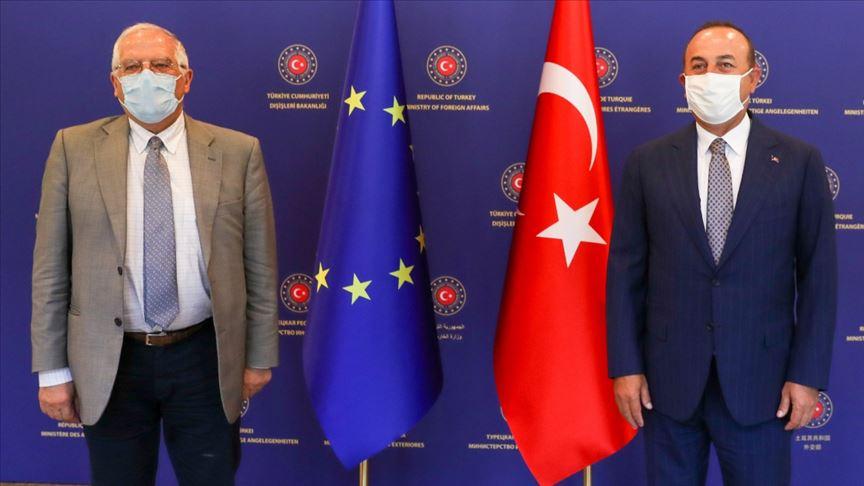 Çavuşoğlu, AB Dış İlişkiler Yüksek Temsilcisi Borrell ile görüştü