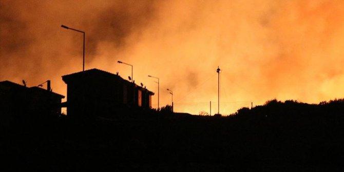 İzmir'deki yangını söndürme çalışmaları sürüyor