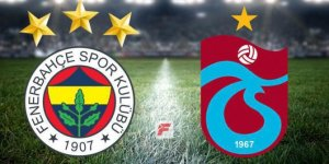 Fenerbahçe-Trabzonspor maçında ilk yarı bitti