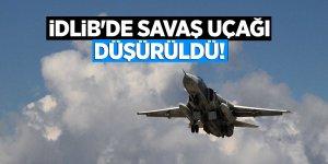 İdlib'de savaş uçağı düşürüldü!