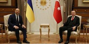 Erdoğan, Ukrayna Başbakanı Shmyhal'ı kabul etti