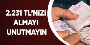 2.231 TL'NİZİ ALMAYI UNUTMAYIN
