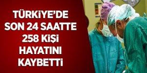 Türkiye'de Son 24 Saatte 258 Kişi Hayatını Kaybetti