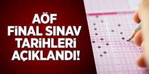 AÖF final sınav tarihleri açıklandı